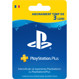Card PlayStation Plus RO abonament 90 zile