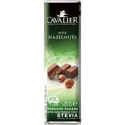 Baton de ciocolata cu lapte si alune bucati  40g