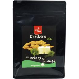 Crackers bio cu branza si verdeata 150g
