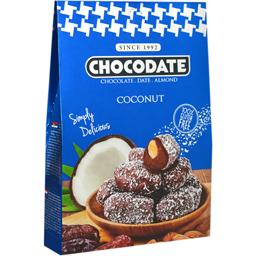 Curmale glazurate in ciocolata cu lapte si cocos 80g