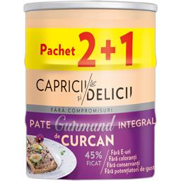 Pate integral de curcan, 45% ficat 3x115g