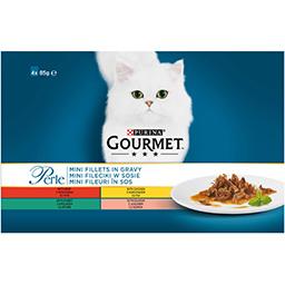 Hrana completa pentru pisici adulte cu vita 4 plicuri 4x85g