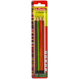 Creion scolare asortate, mina grafit, 4 bucati