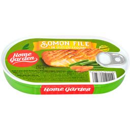Somon file in ulei cu legume 170g