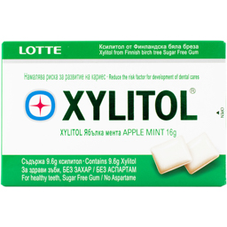 Guma cu xylitol apple mint 16g
