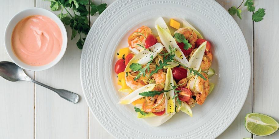 Salata de andive cu creveti cu sos calypso