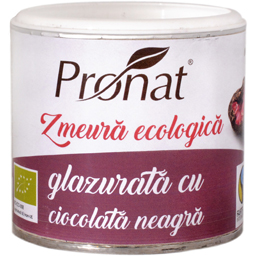 Zmeura ecologica glazurata cu ciocolata neagra 100g