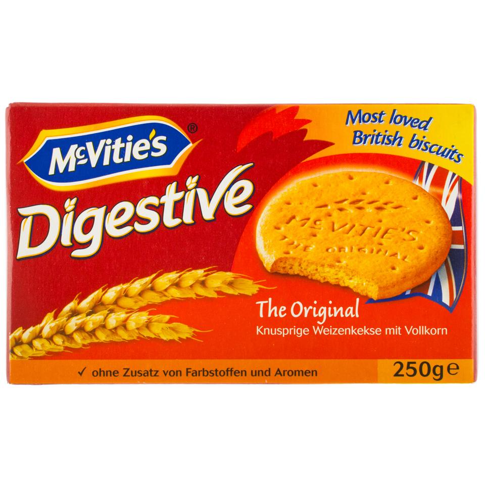Calorii din biscuiții digestivi ai McVitie