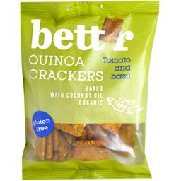 Crackers fara gluten bio din quinoa cu rosii si busuioc 100g