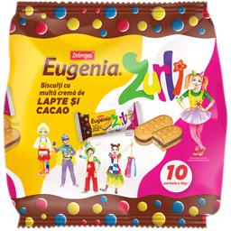 Biscuiti Zurli cu crema de lapte si cacao 10x36g