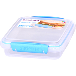 Cutie din plastic cu capac pentru sandwich, 450ml, diverse culori