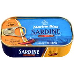 Sardine in ulei vegetal cu ardei iute 125g