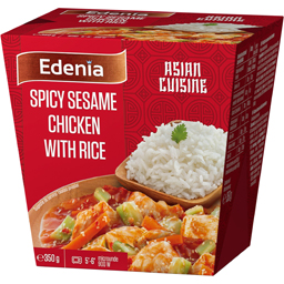 Pui spicy cu susan si orez Jasmine 350g