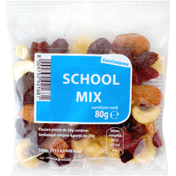 Fructe uscate School Mix 80g