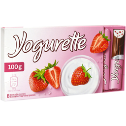 Batoane de ciocolata cu gust de capsuni si iaurt 100g