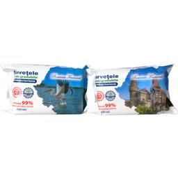Servetele umede antibacteriene biodegradabile, 70 bucati, diverse modele