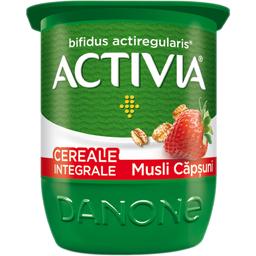 Iaurt cu musli si capsune 2.8% grasime 125g