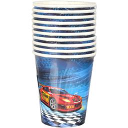 Set 10 pahare carton Super Racer