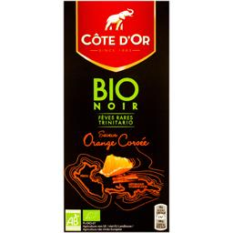 Ciocolata neagra bio cu portocale 90g