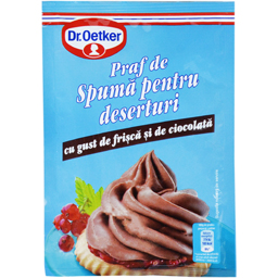 Praf de spuma pentru deserturi cu gust de frisca si de ciocolata 60g