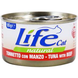 Hrana pisici conserva cu ton si vita 85g