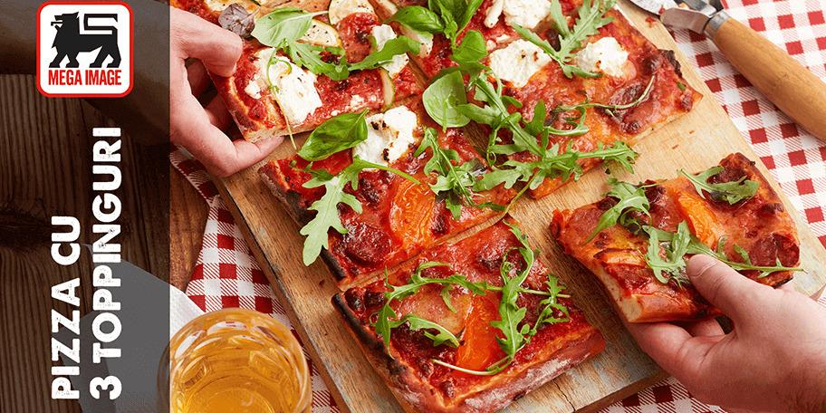 Pizza cu 3 toppinguri