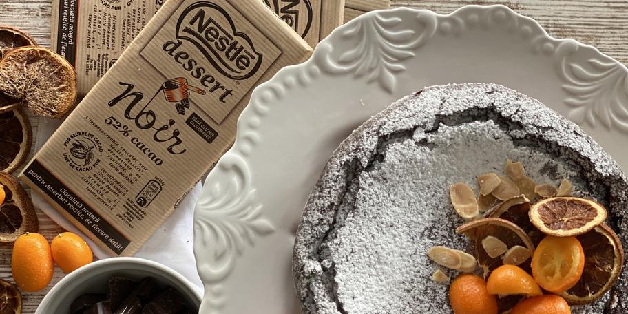 Pasca cu crema de branza si ciocolata Nestle Dessert Noir